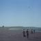 昭和41年、茅ヶ崎海岸(白黒カラー化例3)